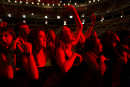 students at a concert