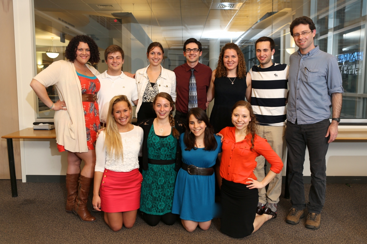 Jewish Studies Student Association board members, 2013